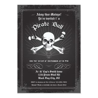 Invitación del fiesta del pirata de Halloween Invitación 12,7 X 17,8 Cm
