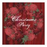 Invitación del fiesta del Poinsettia del navidad