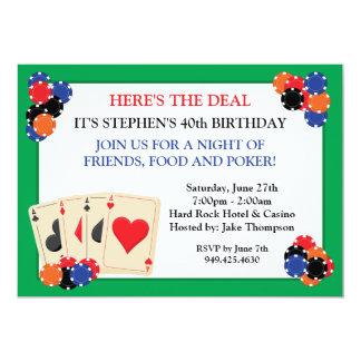 Invitación del fiesta del póker