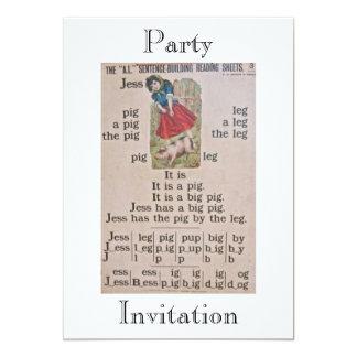 Invitación del fiesta del poster de la escuela del