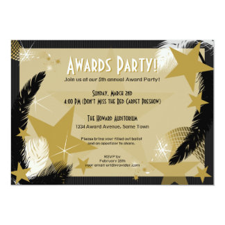 Invitación del fiesta del premio del encanto de