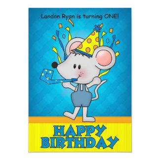 Invitación del fiesta del ratón del cumpleaños
