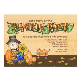 Invitación del fiesta del remiendo de la calabaza
