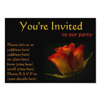 Invitación del fiesta del rosa anaranjado y