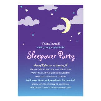 Invitación del fiesta del Sleepover del cumpleaños