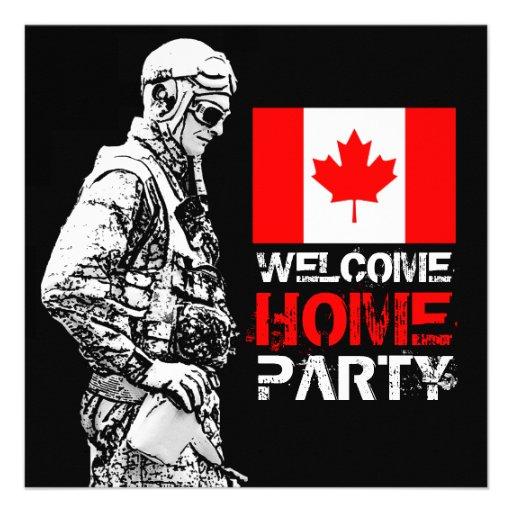 Invitación del fiesta del soldado del hogar de la