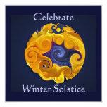 Invitación del fiesta del solsticio de invierno invitación 13,3 cm x 13,3cm