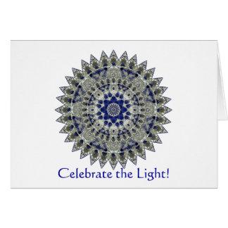 Invitación del fiesta del solsticio de invierno de tarjeton