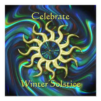 Invitación del fiesta del solsticio de Sun del