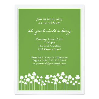 Invitación del fiesta del St Patricks del jardín