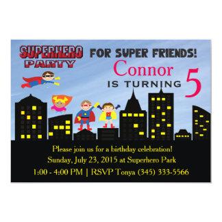 Invitación del fiesta del superhéroe