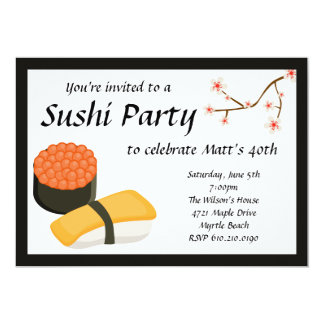 Invitación del fiesta del sushi