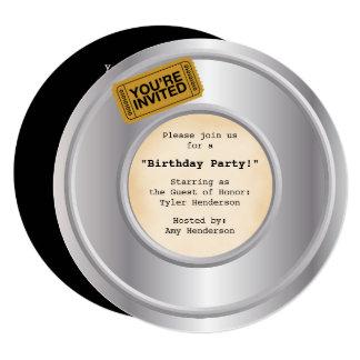 Invitación del fiesta del tema de la película/de