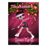 Invitación del fiesta del tenis