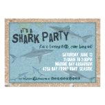Invitación del fiesta del tiburón