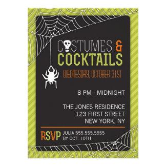 Invitación del fiesta del traje de Halloween