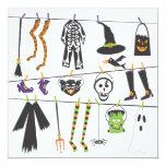 Invitación del fiesta del traje de Halloween Invitación 13,3 Cm X 13,3cm