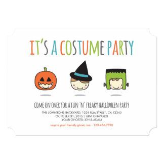 Invitación del fiesta del traje de Halloween de