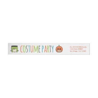 Invitación del fiesta del traje de Halloween de Etiquetas Envolventes De Remitente