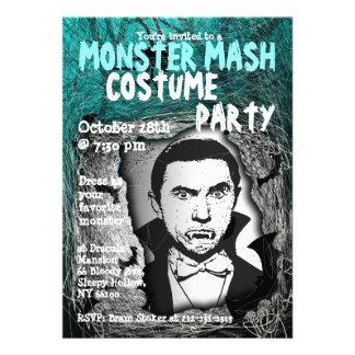 Invitación del fiesta del traje de Halloween del p