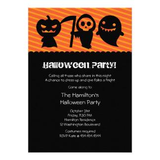 Invitación del fiesta del traje de Halloween Kawai