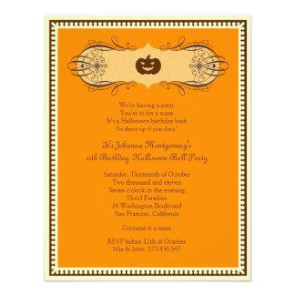 Invitación del fiesta del traje de la bola de Hall