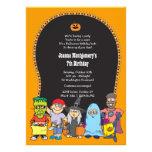 Invitación del fiesta del traje del niño del cumpl