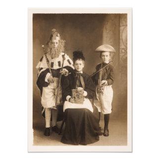 Invitación del fiesta del traje del vintage