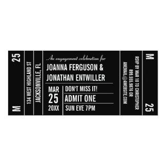 Invitación del fiesta del trozo de boleto invitación 10,1 x 23,5 cm