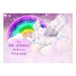 Invitación del fiesta del unicornio