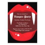 Invitación del fiesta del vampiro con los colmillo
