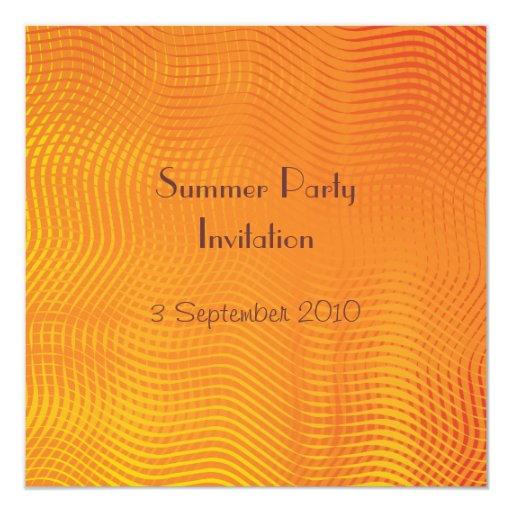 Invitación del fiesta del verano