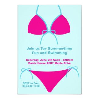 Invitación del fiesta del verano invitación 12,7 x 17,8 cm