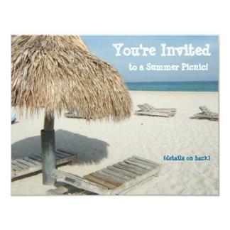 Invitación del fiesta del verano, cabaña de la