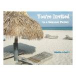 Invitación del fiesta del verano, cabaña de la pla
