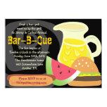 Invitación del fiesta del verano de la Barra-b-Que