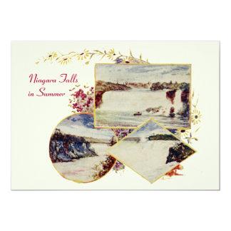 Invitación del fiesta del verano de Niagara Falls