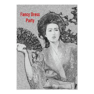 Invitación del fiesta del vestido de lujo del