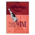 Invitación del fiesta del vino tarjeta de felicitación