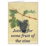Invitación del fiesta del vino tarjeta