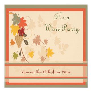Invitación del fiesta del vino y del queso