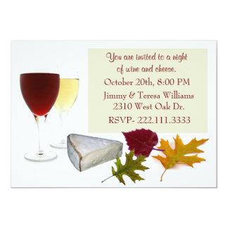 Invitación del fiesta del vino y del queso de la