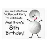 Invitación del fiesta del voleibol del cumpleaños