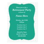 Invitación del fiesta postales