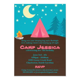 Invitación del fiesta que acampa