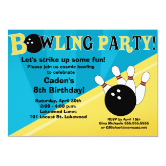 Invitación del fiesta que rueda - azul y amarillo