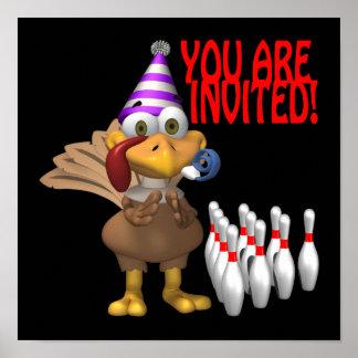 Invitación del fiesta que rueda impresiones