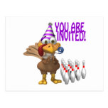 Invitación del fiesta que rueda tarjeta postal