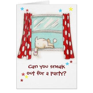 Invitación del fiesta tarjeta pequeña