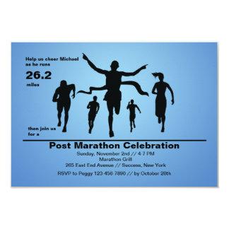 Invitación del final del maratón